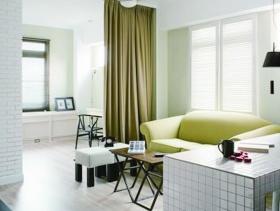 简约风格小户型客厅装修图片-简约风格布艺沙发图片