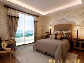 165㎡三居简约风格卧室背景墙装修效果图-简约风格床头柜图片