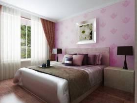 现代简约风格卧室女生卧室背景墙装修效果图-现代简约风格床头柜图片
