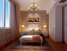 四居一层客卧背景墙纸装修效果图