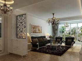 欧式风格别墅客厅玄关吊顶装修效果图