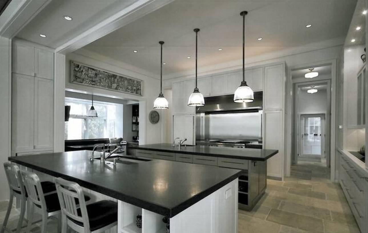现代风格开放式厨房吊顶家装样板间装修效果图
