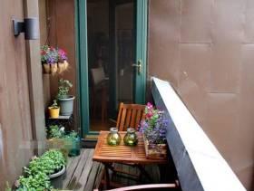简约风格阳台花园装修图片-简约风格阳台花架图片