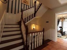 简约欧式风格室内楼梯设计装修效果图