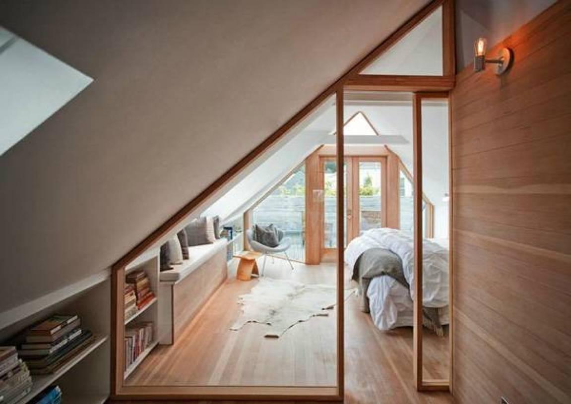 现代风格独栋别墅斜顶阁楼装修图片-现代风格实木家具