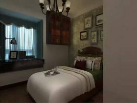 小卧室竖条纹背景墙纸装修效果图
