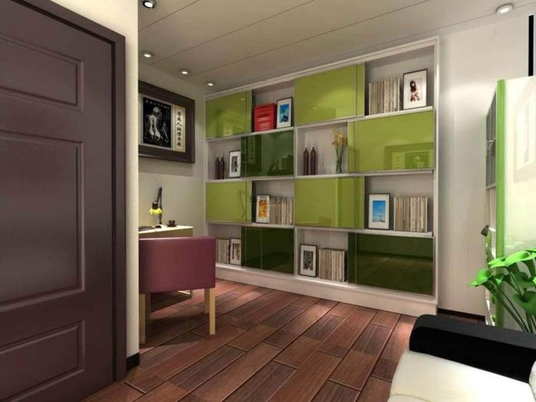 现代风格书房装饰画装修效果图-现代风格书柜图片