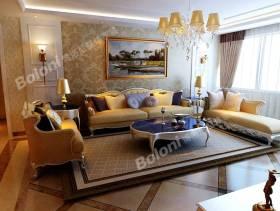 欧式风格三居室客厅沙发背景墙效果图,欧式风格吊顶图片