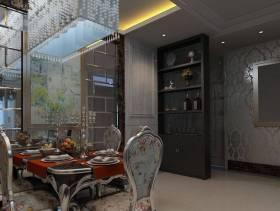 简欧风格餐厅背景墙装修图片-简欧风格餐桌图片