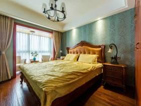 大气时尚的卧室蓝色背景墙装扮