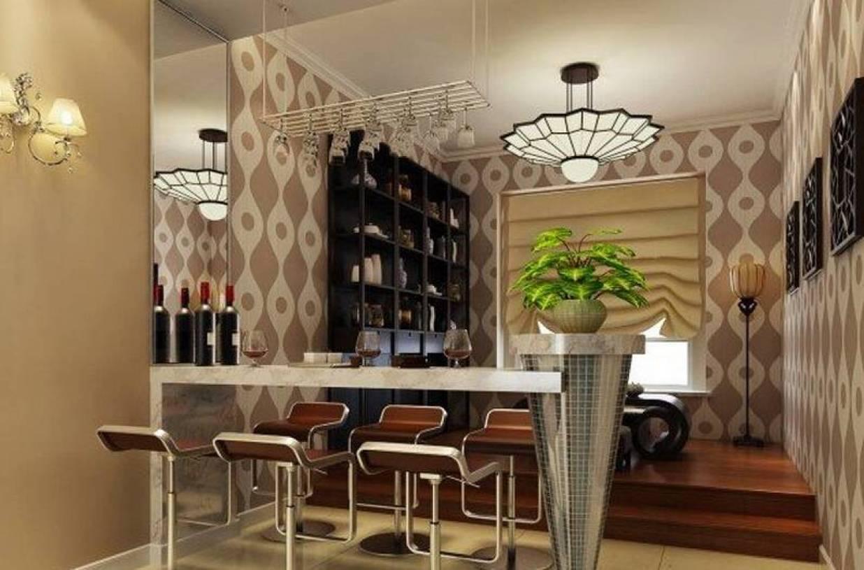 现代风格家庭式酒吧台装修效果图-现代风格吧台椅图片图片