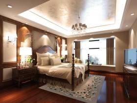 欧式风格三居室主卧室背景墙装修效果图,欧式风格吊顶图片