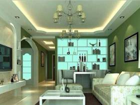 简约风格方形的小户型客厅装修效果图-简约风格置物台图片