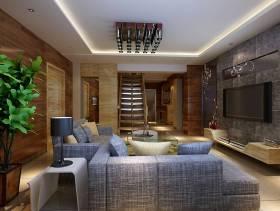 中式风格复式楼楼梯装修效果图