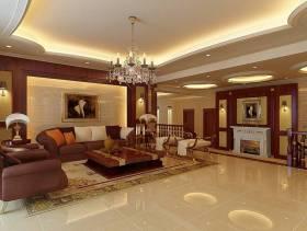 欧式风格别墅起居室吊顶装修效果图,欧式风格沙发图片
