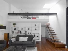 简约风格小复式过道楼梯装修图片