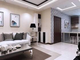 小户型现代风格沙发背景墙装修效果图,现代风格茶几图片