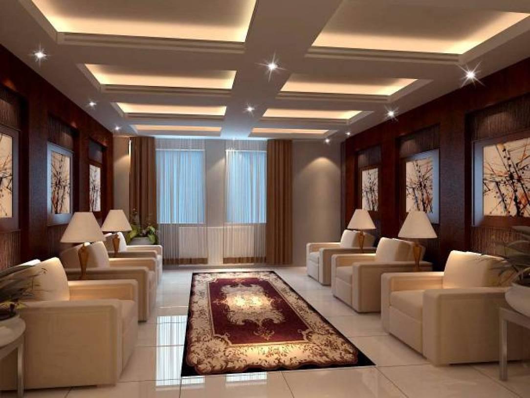 现代风格会客厅吊顶装修效果图-现代风格单人沙发图片