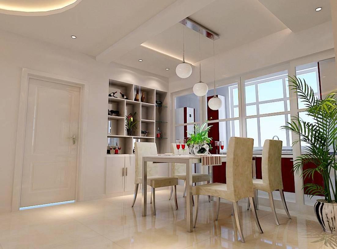 70平现代简约风格一居餐厅吊顶装修效果图,现代简约风格栎木酒柜图片
