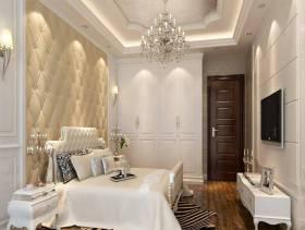 136㎡三居室简欧风格卧室背景墙装修效果图-简欧风格电视柜图片