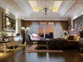 380平欧式联排别墅主卧室装修效果图