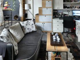地中海田园风格小户型复式客厅设计图赏