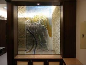 简约风格玄关玻璃隔断装修图片