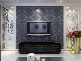 2013最新现代简约装修客厅电视墙效果图