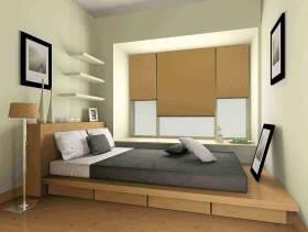 80㎡小户型宜家风格卧室榻榻米装修效果图-宜家风格榻榻米床图片