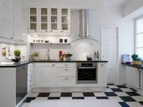 136㎡北欧风格厨房装修图片-北欧风格厨房门图片