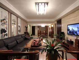 中式风格客厅沙发背景墙装修图片-中式风格沙发图片