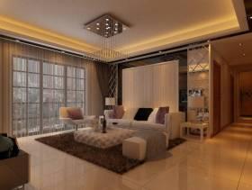 三居室现代简约风格客厅背景墙装修效果图-现代简约风格边几图片