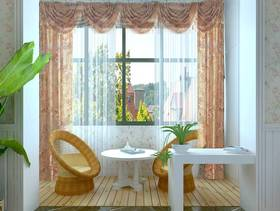 简欧风格阳台窗帘装修效果图-简欧风格茶几图片