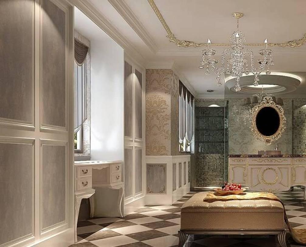 欧式风格浴室装修效果图-欧式风格吊灯图片