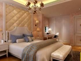 欧式田园风格三居室卧室吊顶装修效果图