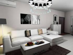 现代风格客厅沙发背景墙装修效果图-现代风格客厅沙发图片