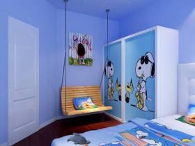 80㎡小户型简约风格儿童房装修效果图-简约风格吊椅图片