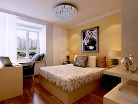149㎡三居室现代简约风格卧室床头背景墙装修效果图-现代简约风格双人床图片