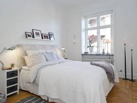 30㎡小户型现代简约风格卧室背景墙装修效果图-现代简约风格双人床图片