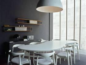 80㎡小户型简约风格餐厅背景墙装修效果图-简约风格餐桌餐椅图片