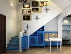 地中海风格复式楼梯装修效果图,地中海风格壁柜图片