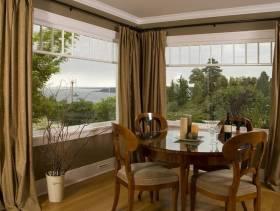 简欧风格海景别墅阳台窗帘装修效果图-简欧风格窗帘杆图片
