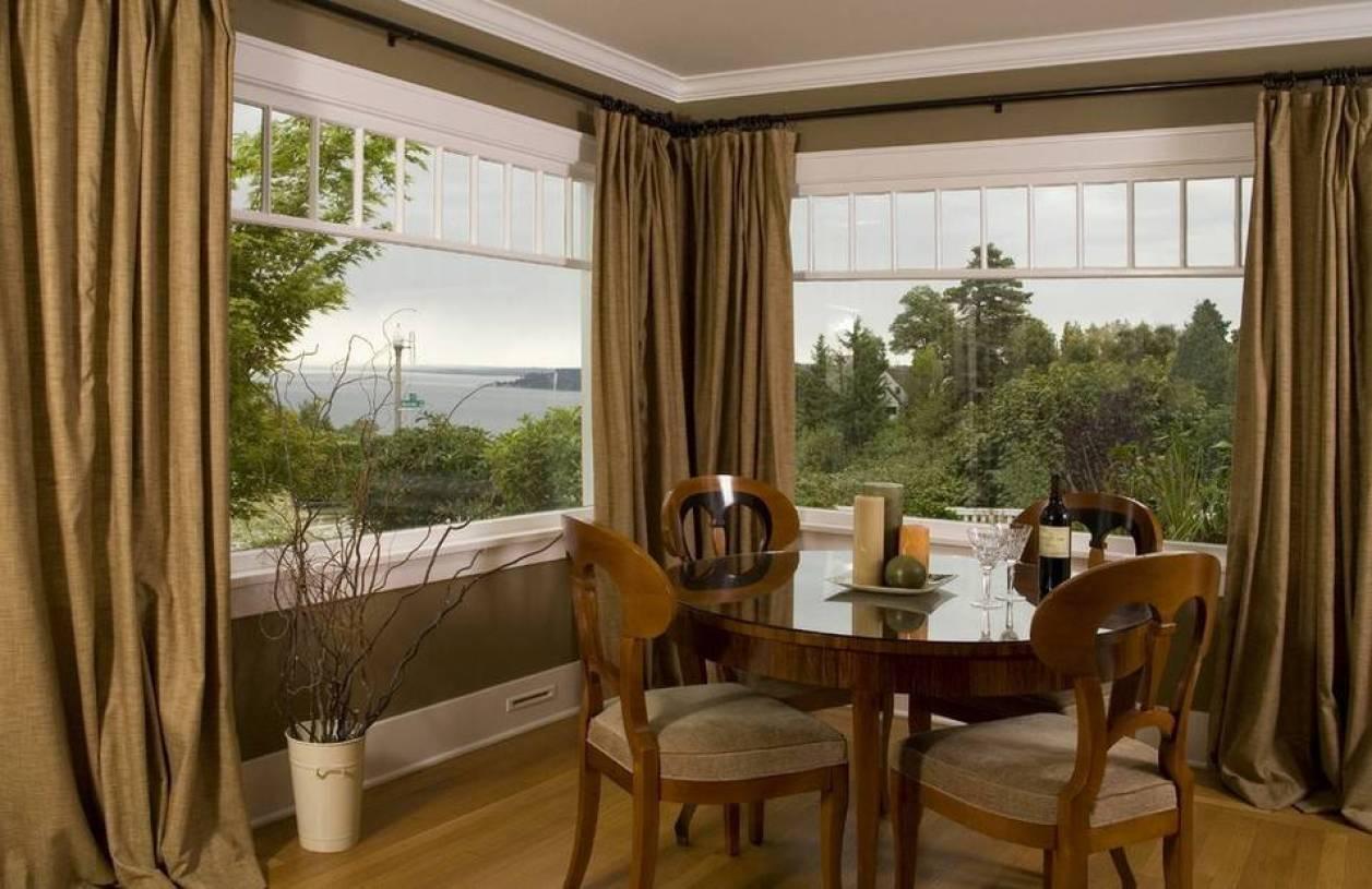 简欧风格海景别墅阳台窗帘装修效果图-简欧风格窗帘杆