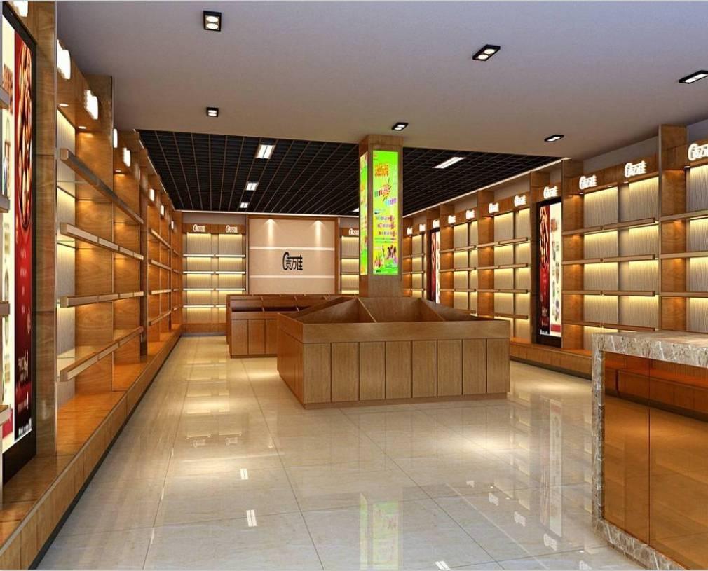 现代风格水干果专卖店室内装修图片