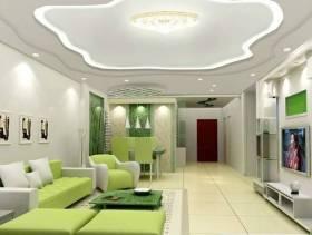 现代简约风格长方形的小户型客厅电视背景墙装修效果图-现代简约风格茶几图片