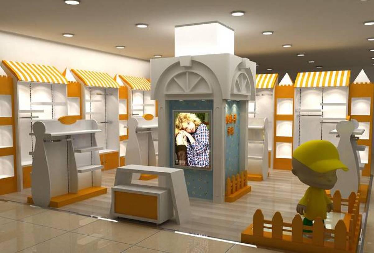 现代风格童装店面装修效果图