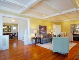 简约风格长方形的小户型客厅背景墙装修效果图-简约风格边几图片