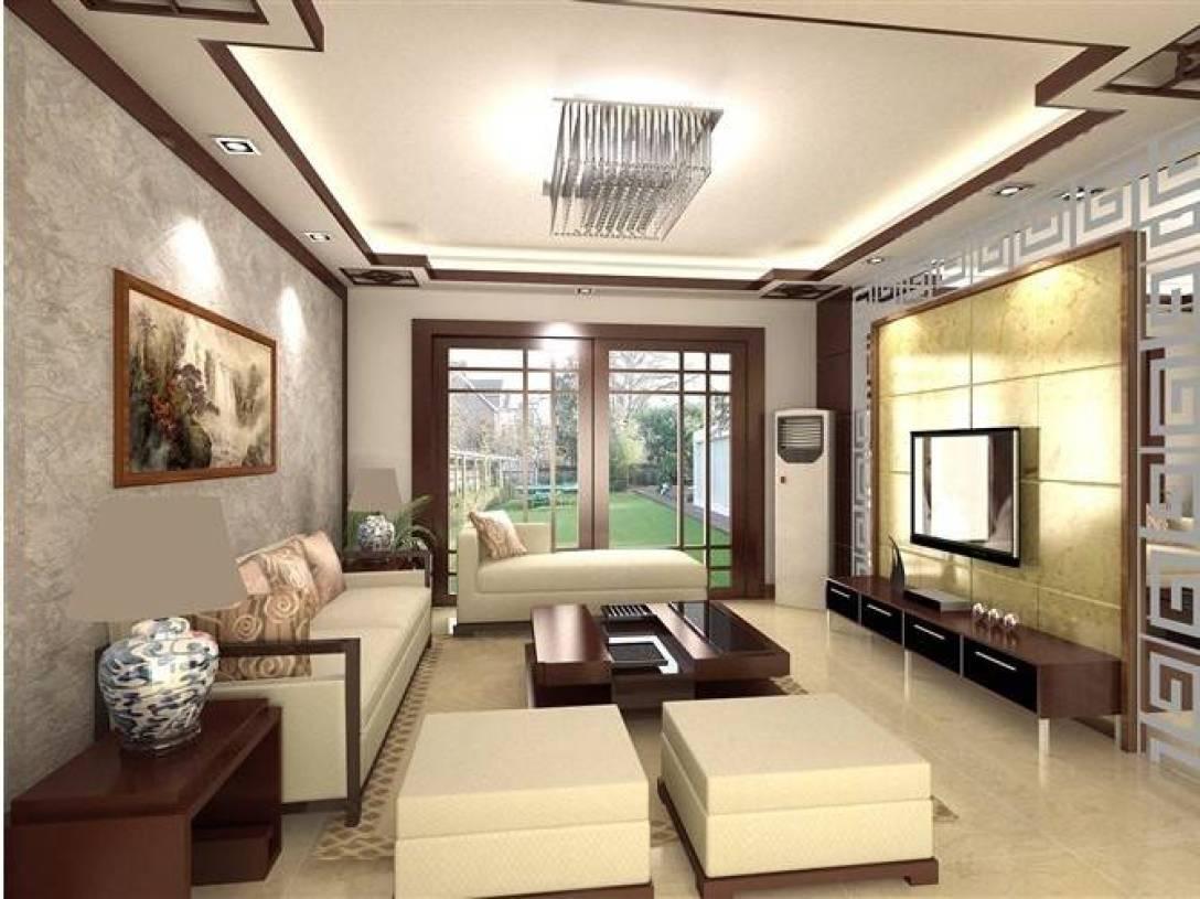 新中式风格客厅电视背景墙装修效果图,新中式风格沙发