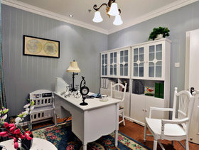 墙面空间巧利用 110平混搭风格公寓