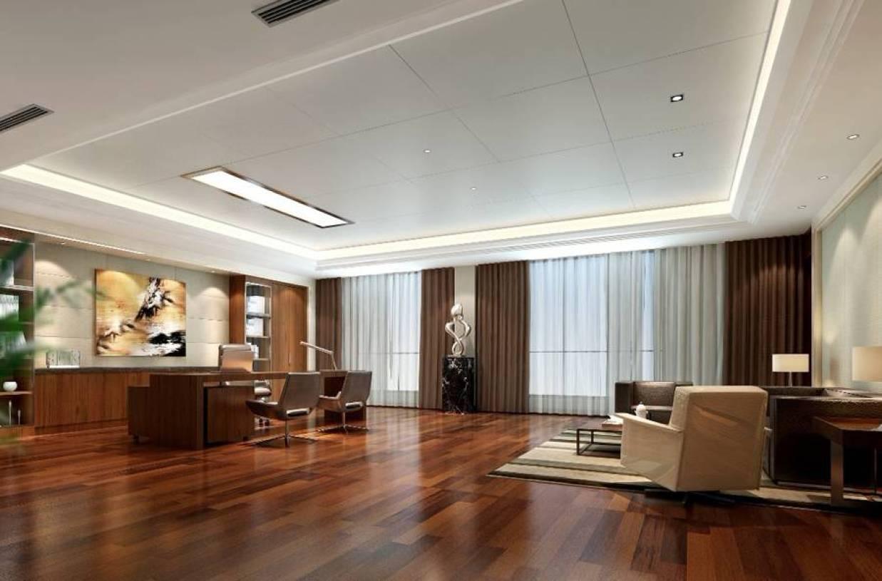 现代简约风格办公室背景墙装修效果图-现代简约风格办公椅图片